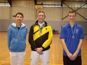 Jesse Park (left) - Gold medal in the foil championship
