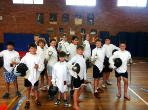 SilverSword fencing academy class 2014