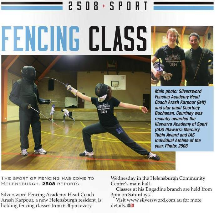 Our Silversword fencing classes at the Helensburgh club.