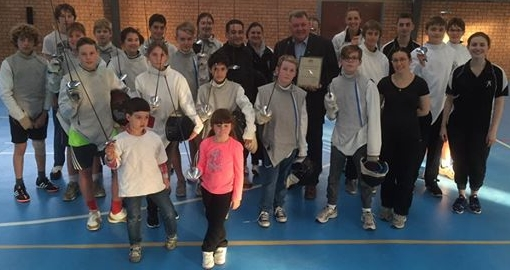 Silversword Fencing Academy Team with Craig Kelly MP
