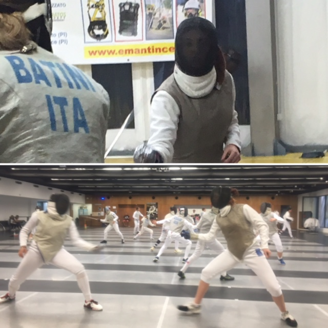 Silversword Courtney Bucanan Fencing with French and Italian National Team Memebers